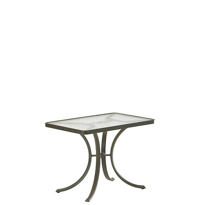 acrylic rectangular outdoor dining table