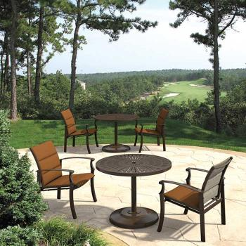 outdoor padded sling chairs