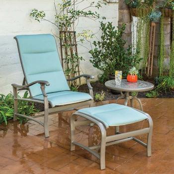 padded sling modern outdoor furniture