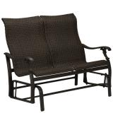 woven patio double glider